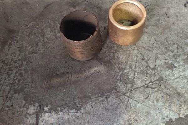 Spigot bearing old vs new